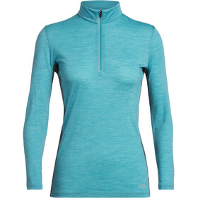 Icebreaker Amplify LS Half Zip Shirt Women arctic teal heather/nightfall heather